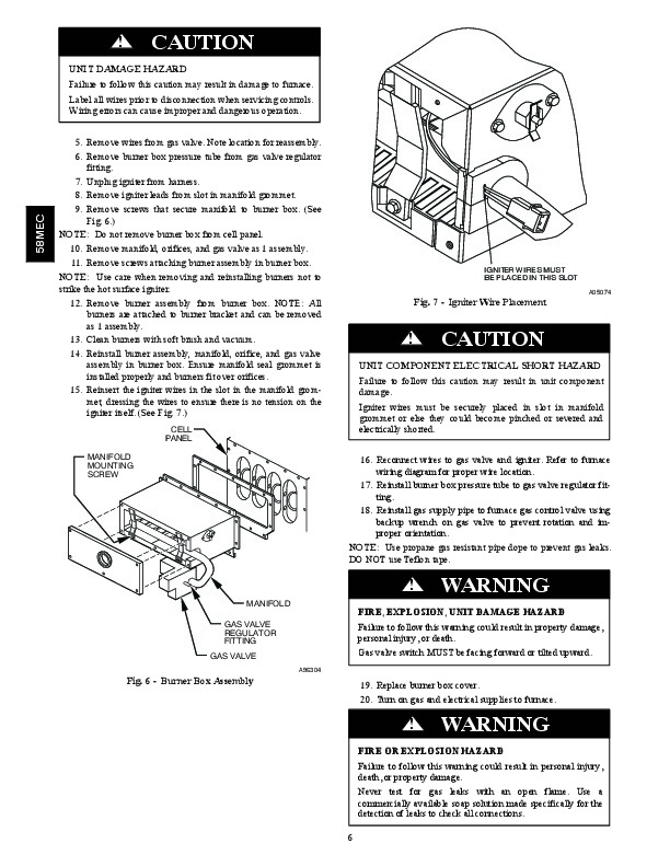 Carrier 58MEC 01SM Gas Furnace Owners Manual