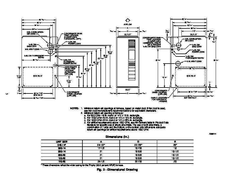 Carrier 58MVP 11SI Gas Furnace Owners Manual
