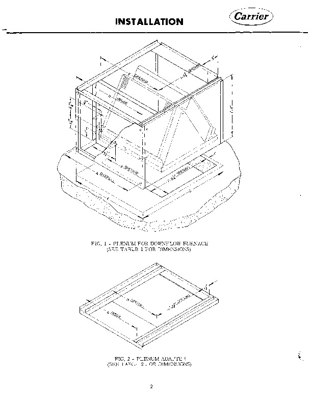 Carrier 58L30C 1045 Gas Furnace Owners Manual