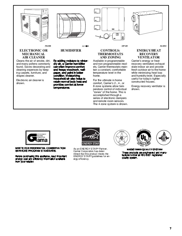 Carrier 58MVP 11PD Gas Furnace Owners Manual