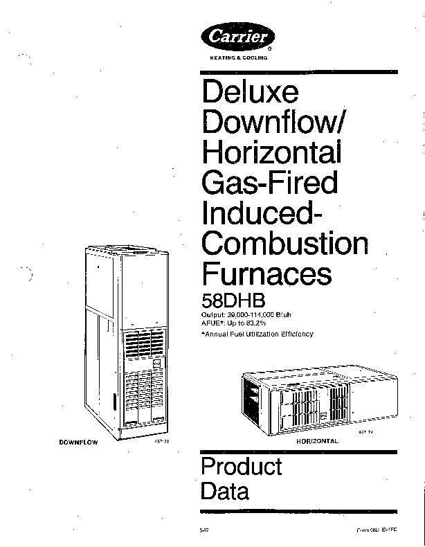Carrier 58DHB 4PD Gas Furnace Owners Manual