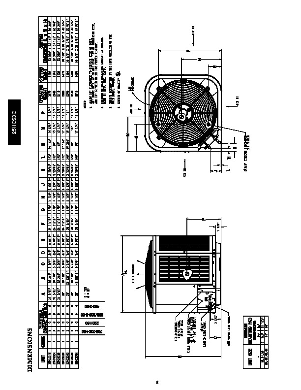 Carrier 25hcs3c 1pd Heat Air Conditioner Manual
