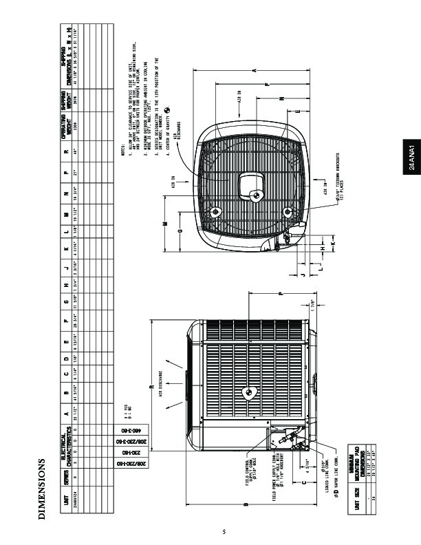 Carrier 24ana1 1pd Heat Air Conditioner Manual