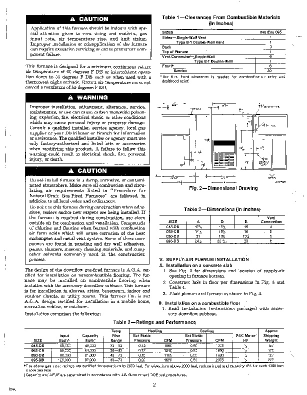 Carrier 58DRC 5SI Gas Furnace Owners Manual