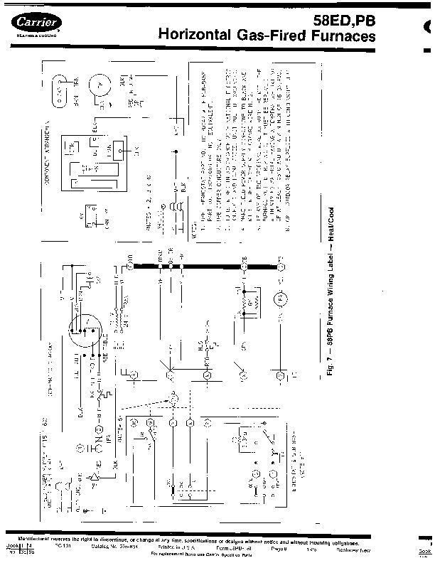 Carrier 58PB 1SI Gas Furnace Owners Manual