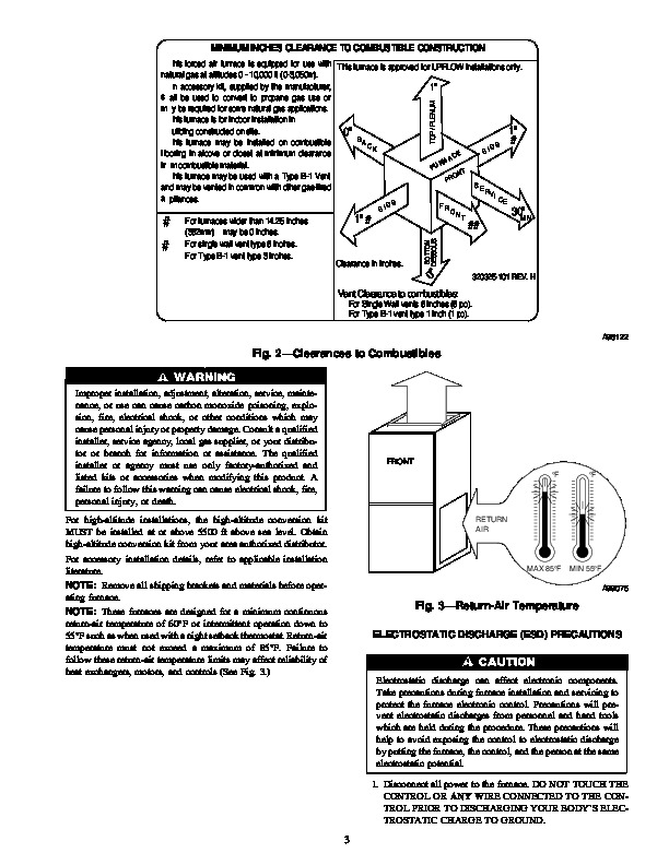 Carrier 58TUA 8SI Gas Furnace Owners Manual