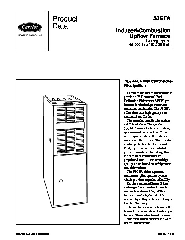 Page 6 Of Carrier Furnace 58gfa User Guide Manualsonlinecom