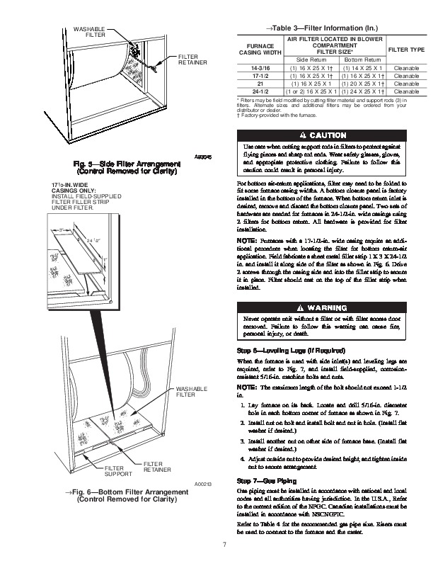Carrier 58YAV 3SI Gas Furnace Owners Manual