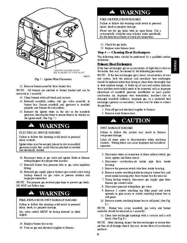 Carrier 58MXB 2SM Gas Furnace Owners Manual