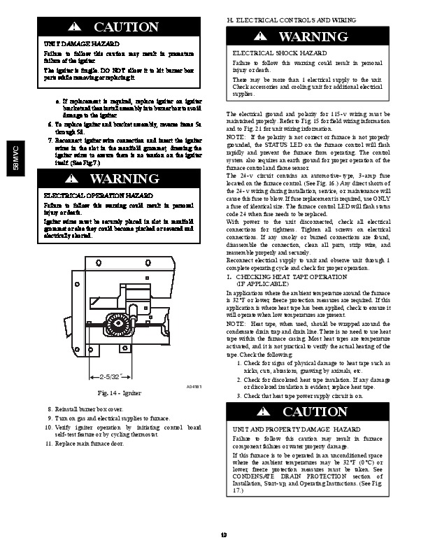 Carrier 58MVC 01SM Gas Furnace Owners Manual