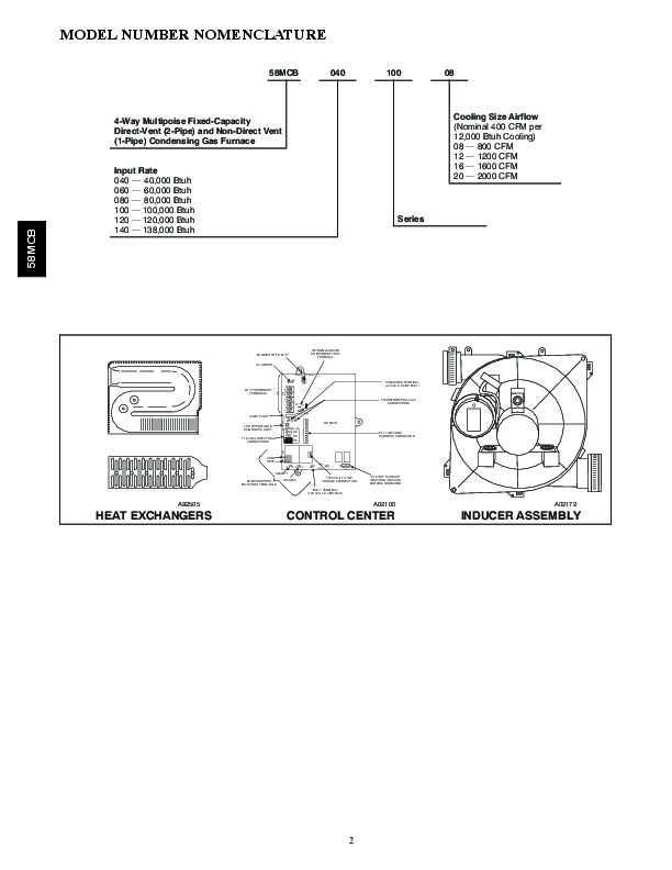 Carrier 58MCB 4PD Gas Furnace Owners Manual