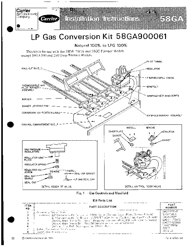 Carrier 58GA 5SI Gas Furnace Owners Manual