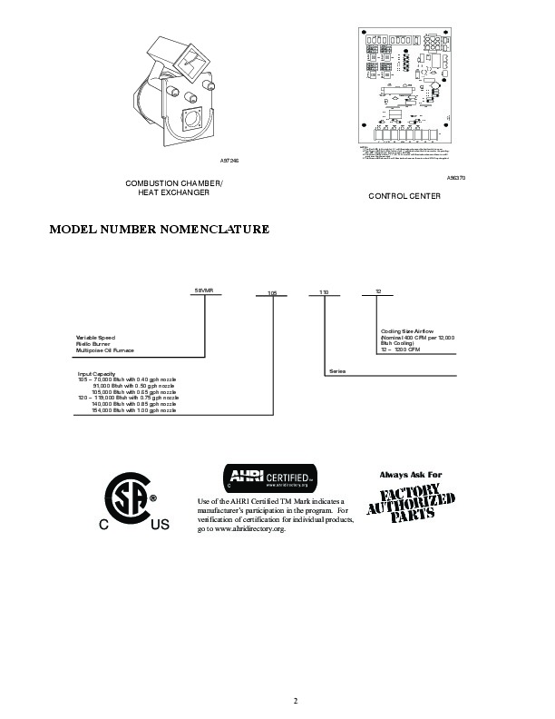 Carrier 58VMR 5PD Gas Furnace Owners Manual