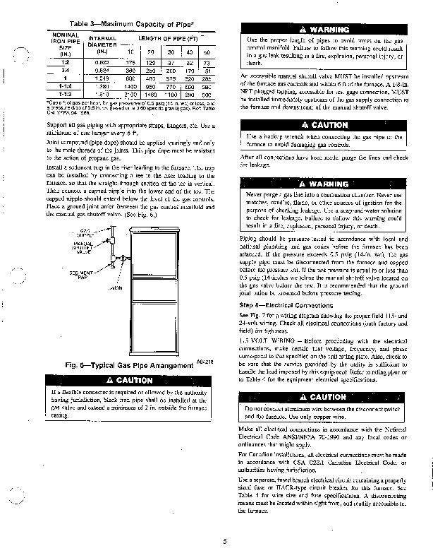 Carrier 58SXB 15SI Gas Furnace Owners Manual