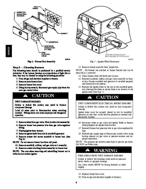 Carrier 58MEB 02SM Gas Furnace Owners Manual