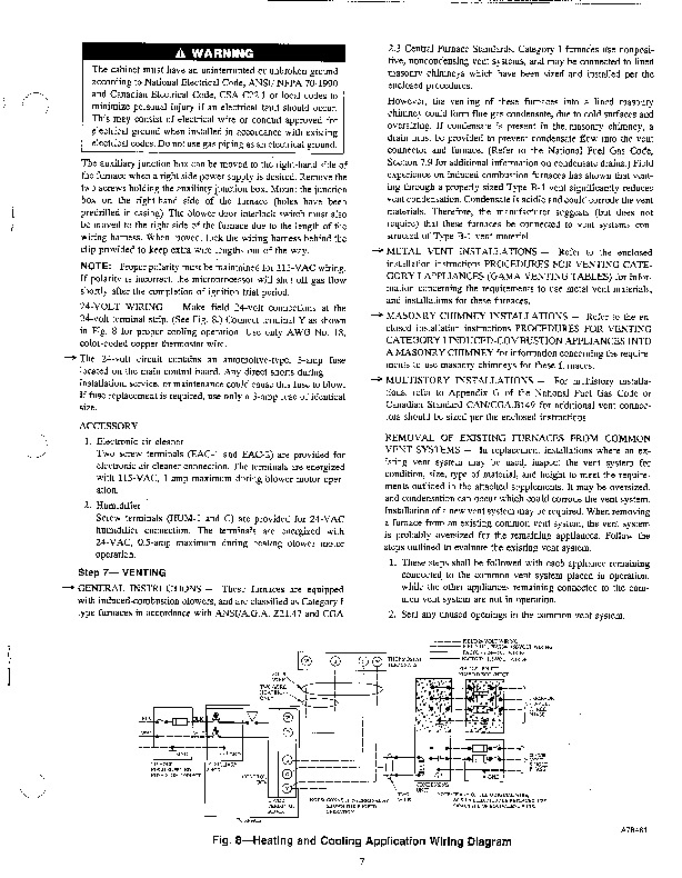 Carrier 58PA 3SI Gas Furnace Owners Manual