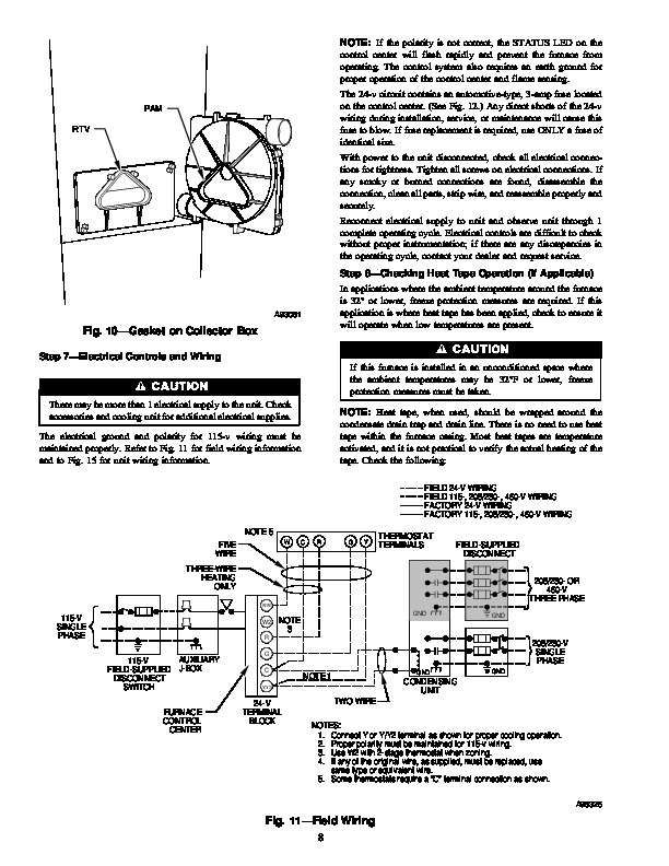 Carrier 58MXA 7SM Gas Furnace Owners Manual