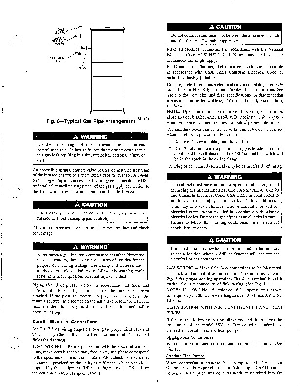 Carrier 58VUA 1SI Gas Furnace Owners Manual
