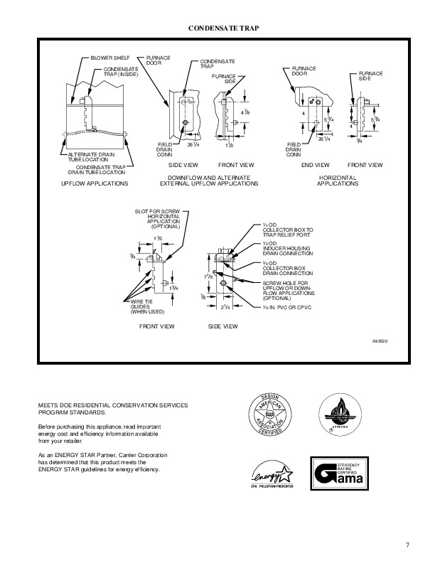 Carrier 58MXA 3PD Gas Furnace Owners Manual