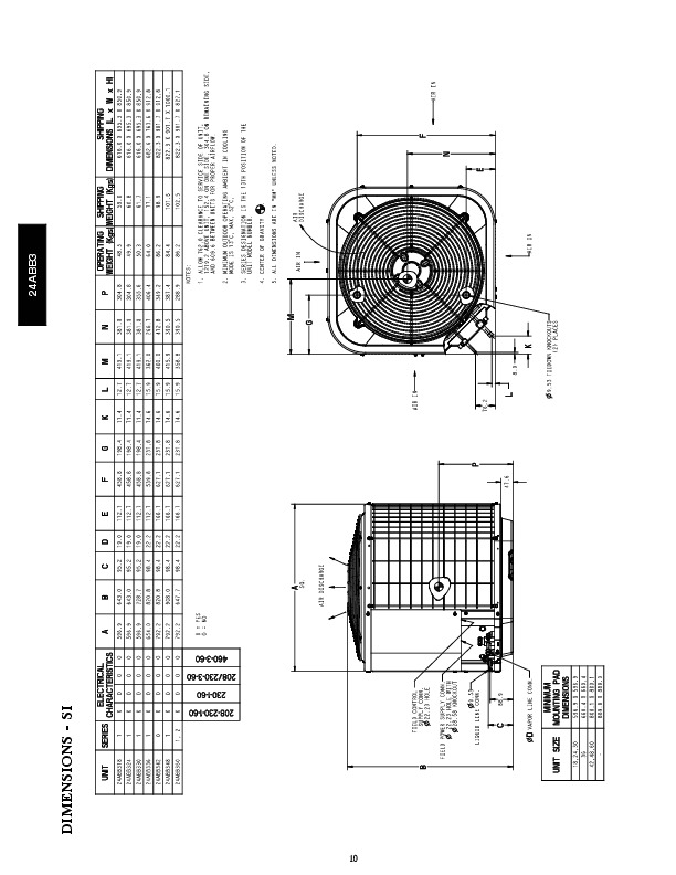 Carrier 24abb 3 4pd Heat Air Conditioner Manual