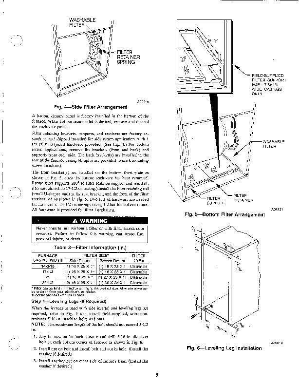 Carrier 58PA 6SI Gas Furnace Owners Manual
