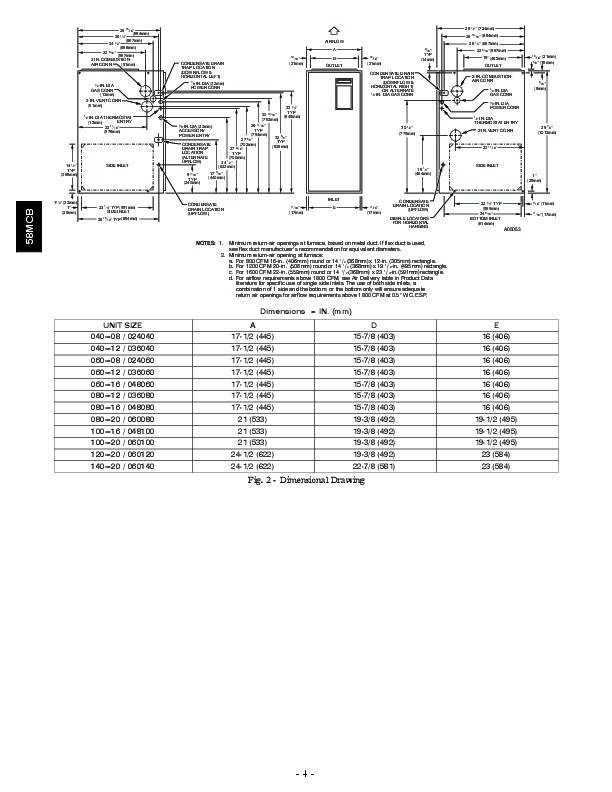Carrier 58MCB 4SI Gas Furnace Owners Manual