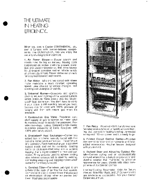 Carrier 58GV 1P Gas Furnace Owners Manual