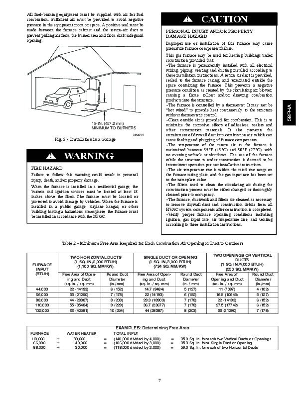 Carrier 58PHA 04SI Gas Furnace Owners Manual