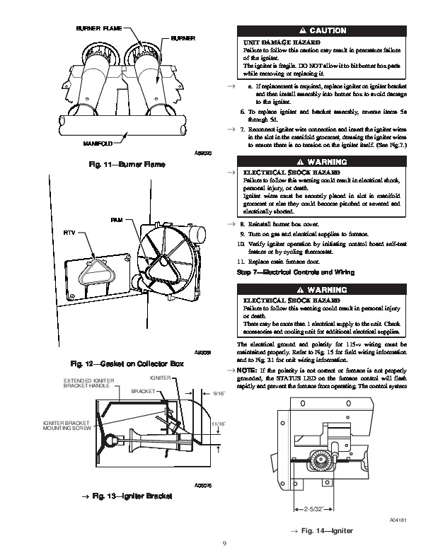 Carrier 58MVB 1SM Gas Furnace Owners Manual