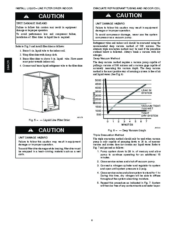 Carrier 24acr 1si Heat Air Conditioner Manual