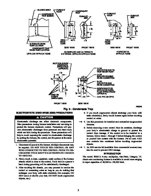Carrier 58MCA 10SI Gas Furnace Owners Manual