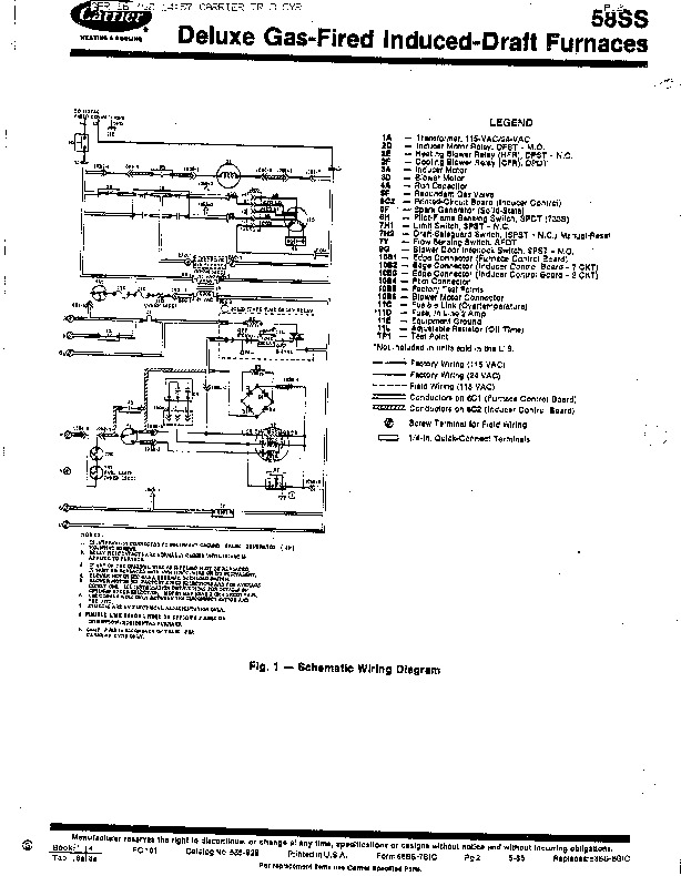 Carrier 58SSC 7SIC Gas Furnace Owners Manual