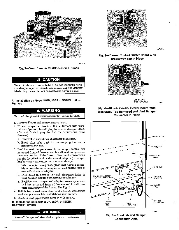 Carrier 58DP 58G 58DR 5SI Gas Furnace Owners Manual