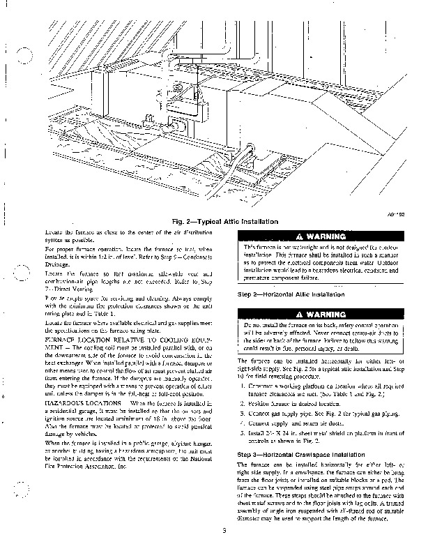 Carrier 58EJA 3SI Gas Furnace Owners Manual