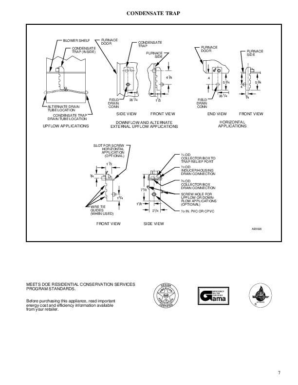 Carrier 58MCA 3PD Gas Furnace Owners Manual
