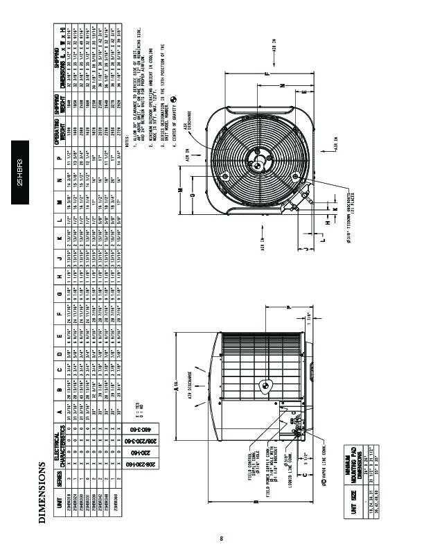 Carrier 25hbr3 4pd Heat Air Conditioner Manual