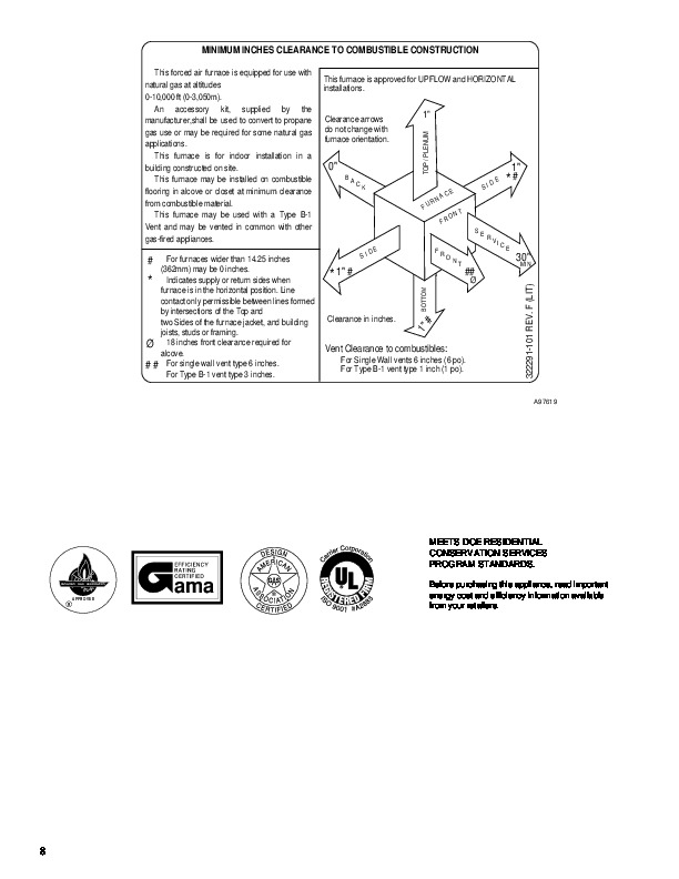 Carrier 58UXT 4PD Gas Furnace Owners Manual