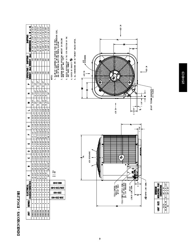 Carrier 25hbc3 1pd Heat Air Conditioner Manual