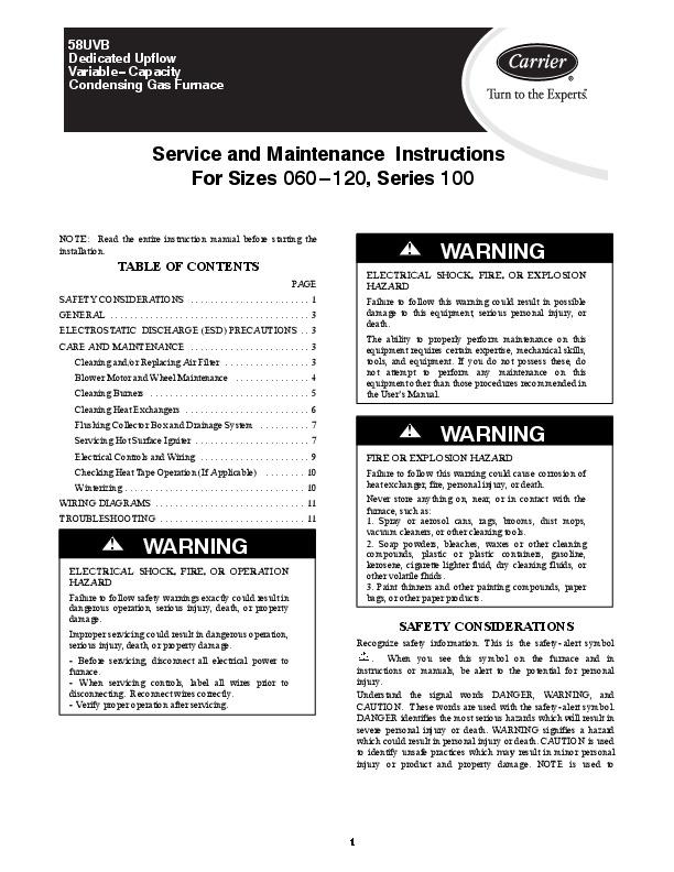 Lennox pulse 21 furnace manual