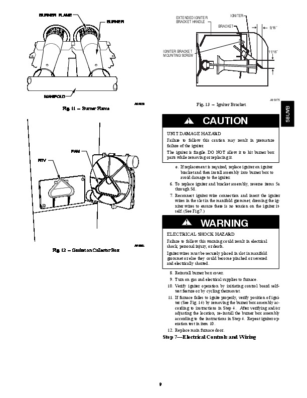 Carrier 58UVB 1SM Gas Furnace Owners Manual