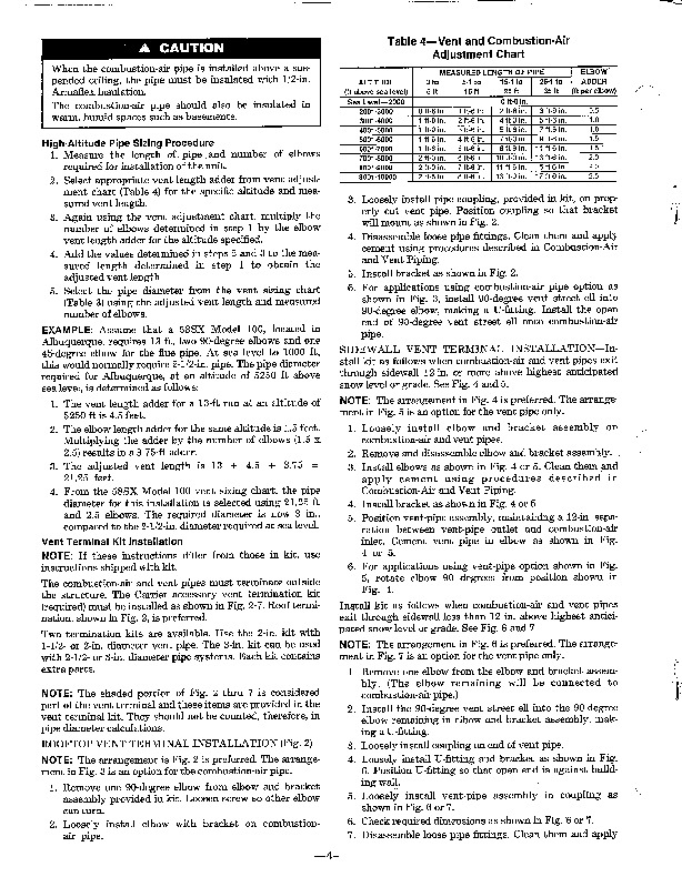 Carrier 58SX 8XA Gas Furnace Owners Manual