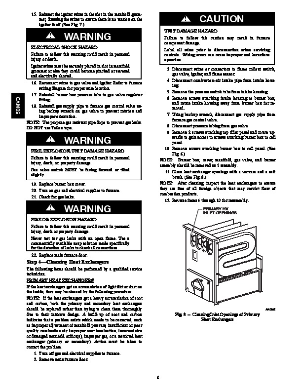 Carrier 58MVB 2SM Gas Furnace Owners Manual