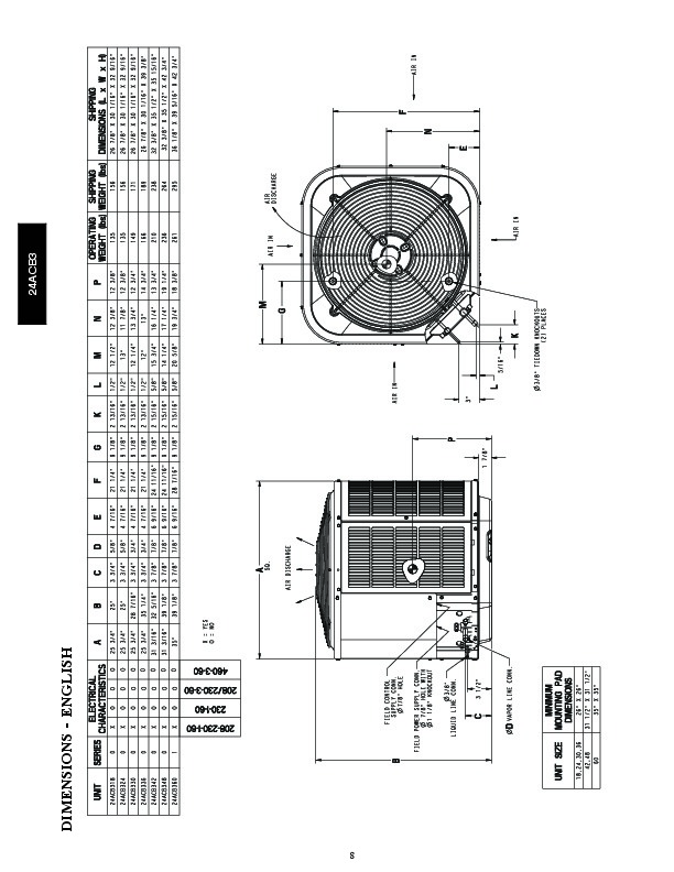 Carrier 24acb3 4pd Heat Air Conditioner Manual