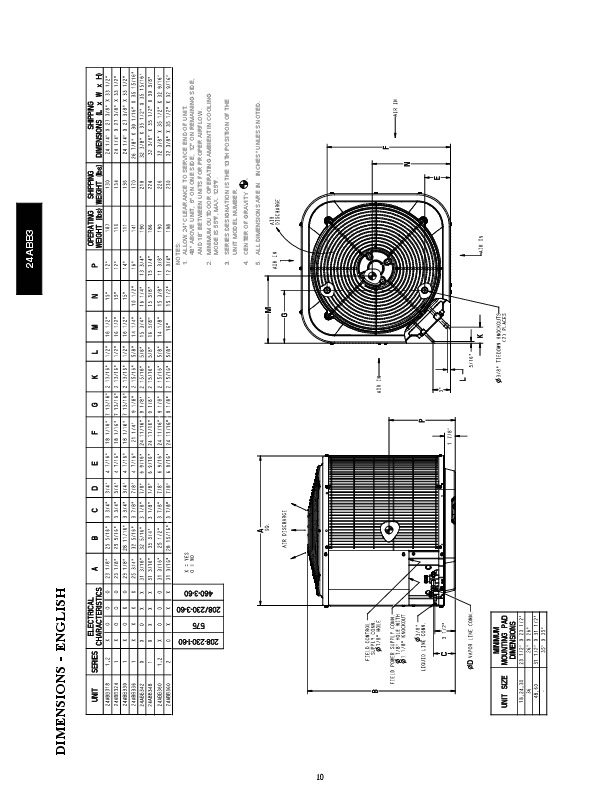 Carrier 24abb 3 6pd Heat Air Conditioner Manual