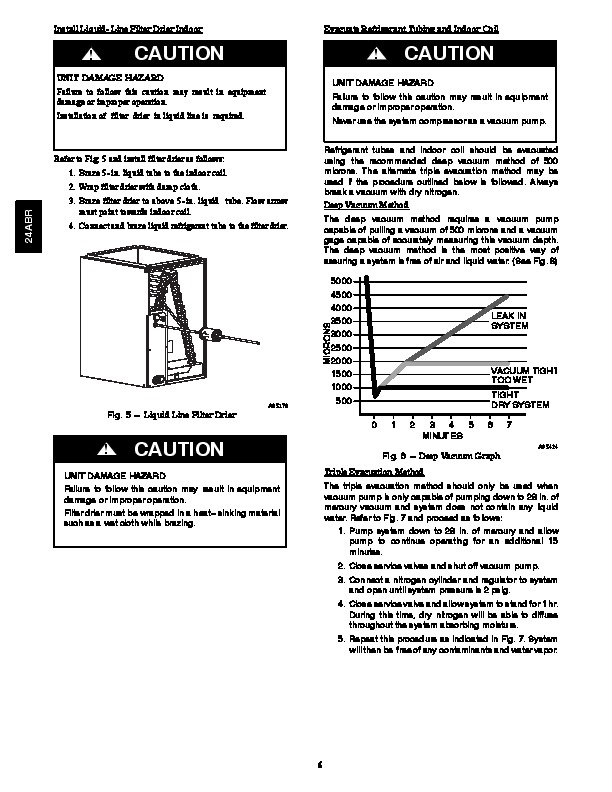 Carrier 24abr 2si Heat Air Conditioner Manual