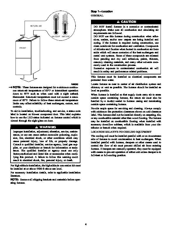 Carrier 58TMA 7SI Gas Furnace Owners Manual