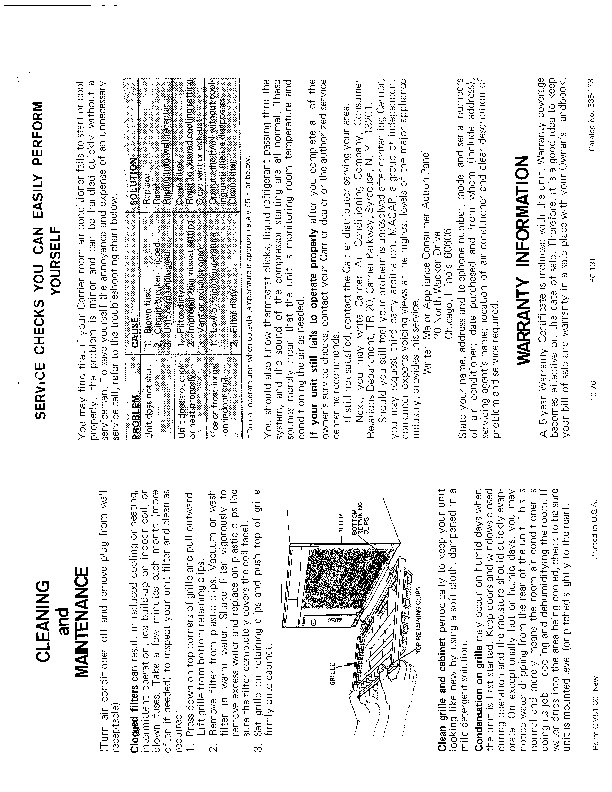 Carrier 51 30 Heat Air Conditioner Manual