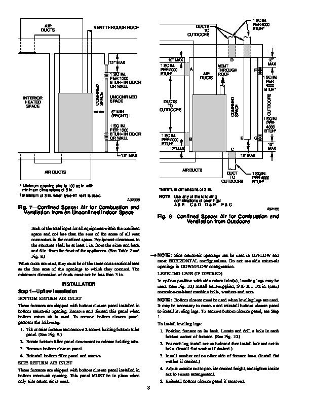 Carrier 58CTA 58CTX 4SI Gas Furnace Owners Manual