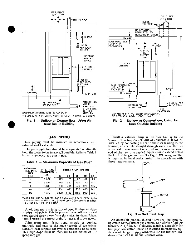 Carrier 58D 58S 3XA Gas Furnace Owners Manual