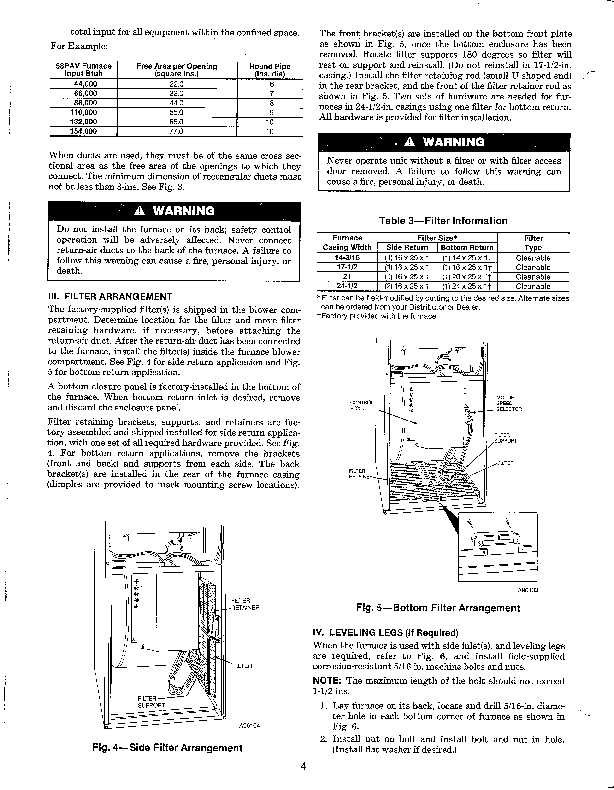 Carrier 58PA 1SI Gas Furnace Owners Manual